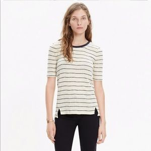 Madewell soundcheck ringer tee wide striped